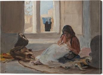 Canvastavla Jan Ciągliński - Nazareth. Van de reis naar Palestina