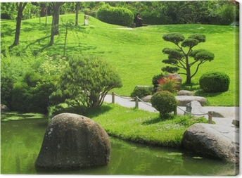 Canvastavla Japansk trädgård