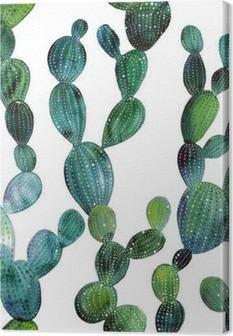 Canvastavla Kaktus mönster i akvarell stil
