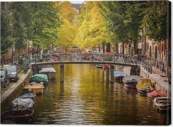Canvastavla Kanal i Amsterdam