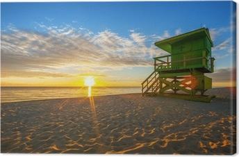 Canvastavla Kända Miami South Beach soluppgång