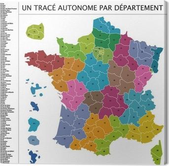 Canvastavla Vector Karta Regioner I Frankrike Pixers Vi Lever