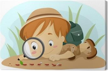 Canvastavla Kid Observation myror