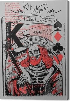 Canvastavla King of spades