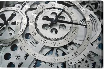 Canvastavla Klocka och kugghjul