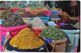 Canvastavla Kryddor
