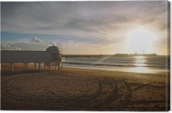 Canvastavla La Caleta i solnedgången