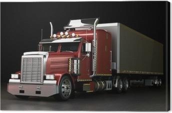 Canvastavla Lastbil på natten