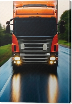 Canvastavla Lastbil på vägen