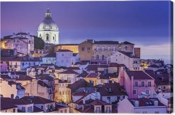 Canvastavla Lissabon, Portugal horisont på Alfama