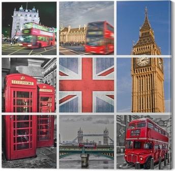 Canvastavla London bilder collage