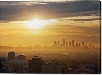 Canvastavla Los Angeles soluppgång