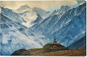 Canvastavla Maitreya på Disket kloster, Ladakh, Indien