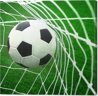Canvastavla Fotboll i mål • Pixers® - Vi lever för förändring 508f00ff587ef