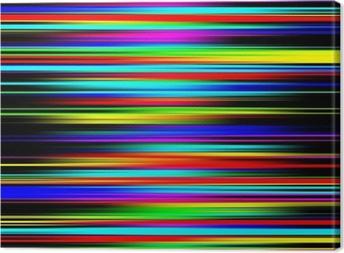 Canvastavla Mångfärgad vibrerande abstrakt graderade randmönster.