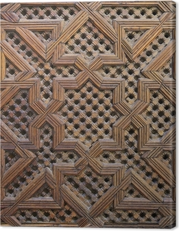 Canvastavla Marockanska Cedar Wood Arabesque Carving