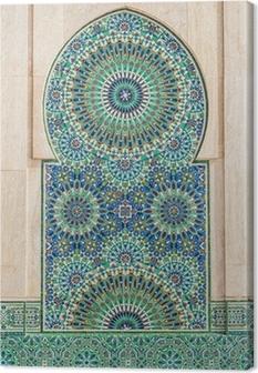 Canvastavla Marockanska vintage kakel bakgrund