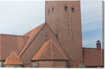 Canvastavla Masthuggskyrkan kyrka på Göteborg i Sverige