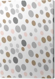 Canvastavla Modern vektor abstrakt sömlösa geometriska mönster med cirklar i retro skandinavisk stil