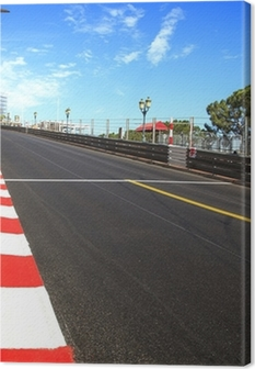 Canvastavla Monaco, Monte Carlo. Race asfalt, Grand Prix krets