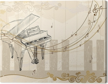 Canvastavla Musikalisk bakgrund