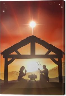 Canvastavla Nativity Christian Christmas Scene