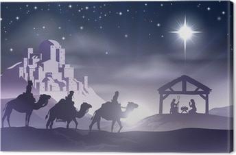 Canvastavla Nativity Christmas Scene