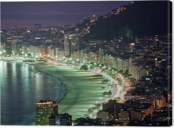 Canvastavla Natt tanke på Copacabana beach. Rio de Janeiro