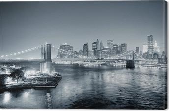 Canvastavla New York Manhattan centrum svartvit