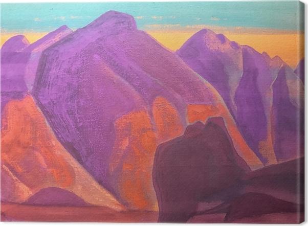 Canvastavla Nikolaj Rjorich - Bergstudie II - Nicholas Roerich