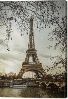 Canvastavla Parigi Tour Eiffel Tramonto