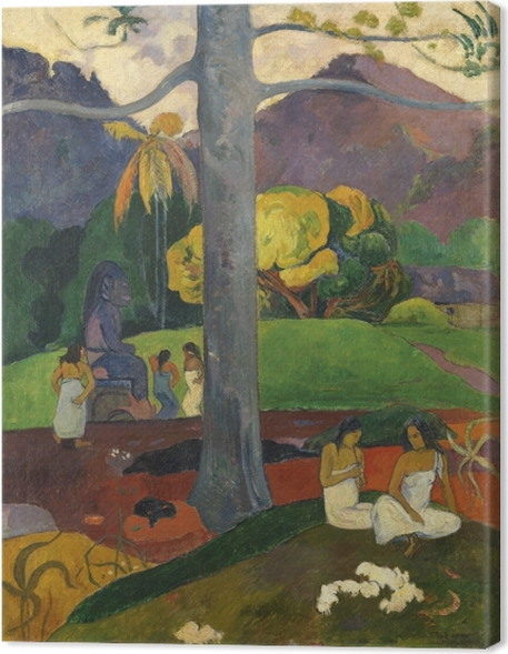 Canvastavla Paul Gauguin - Mata mua (förr i världen) - Reproduktioner