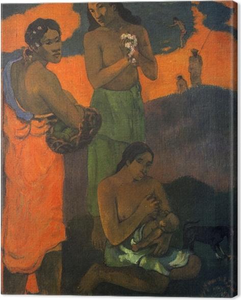 Canvastavla Paul Gauguin - Moderskap - Reproduktioner