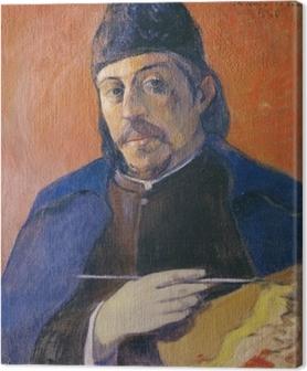 Canvastavla Paul Gauguin - Självporträtt med palett