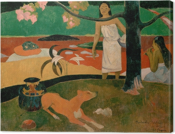 Canvastavla Paul Gauguin - Tahitian pastoral - Reproduktioner