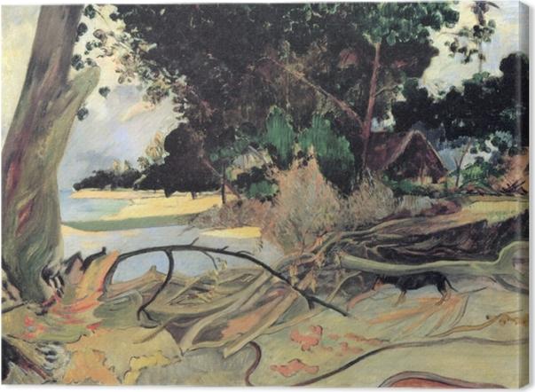 Canvastavla Paul Gauguin - Te Burao (Hibiscus träd) - Reproduktioner