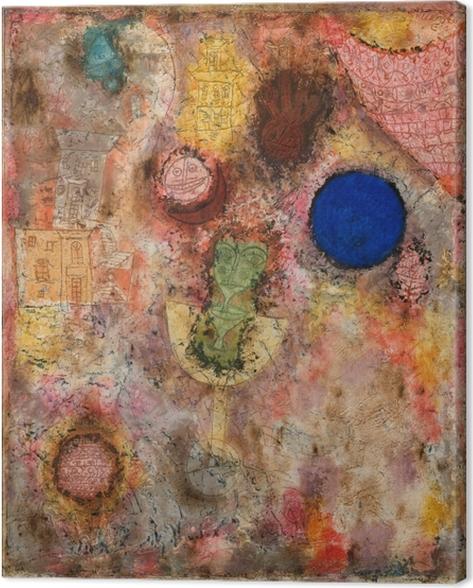 Canvastavla Paul Klee - Magiska trädgården - Reproduktioner