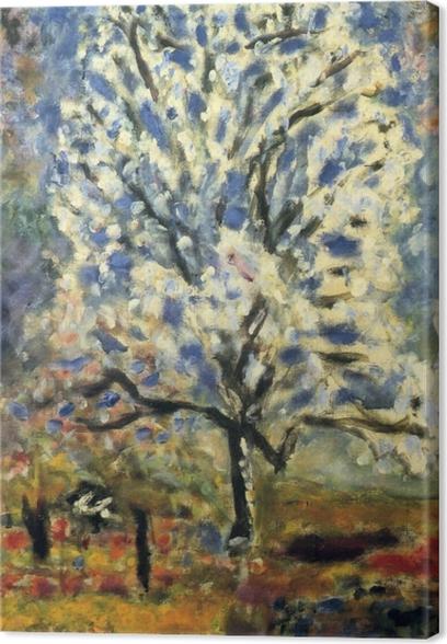 Canvastavla Pierre Bonnard - Bloeiende amandelboom - Reproductions