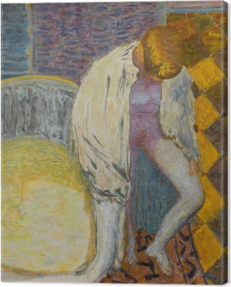Canvastavla Pierre Bonnard - Meisje stapt uit de badkuip - Reproductions
