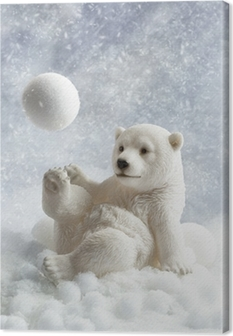 Canvastavla Polar Bear Dekoration