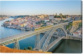 Canvastavla Porto med Dom Luiz Bridge, Portugal