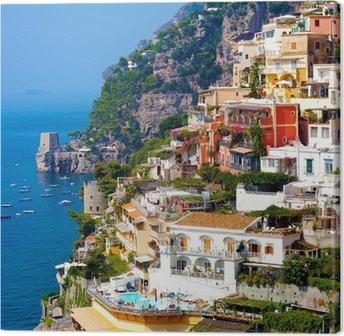 Canvastavla Positano, Italien. Amalfikusten