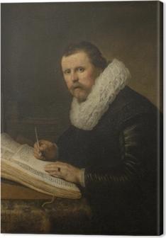 Canvastavla Rembrandt - Porträtt av en lärd man