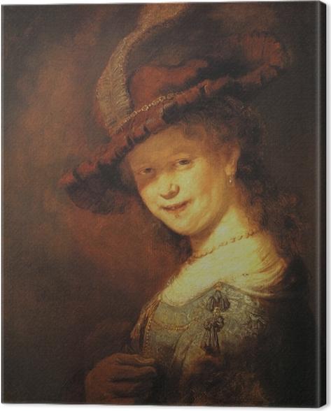 Canvastavla Rembrandt - Saskia Uylenburgh som en ung flicka - Reproduktioner