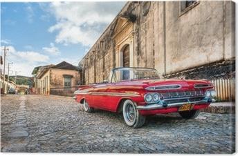 Canvastavla Röd Chevrolet
