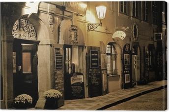 Canvastavla Romantisk middag i Prag