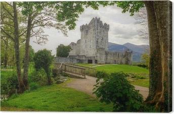 Canvastavla Ross slott nära Killarney, Co. Kerry Irland