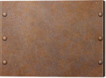 Canvastavla Rostig metall bakgrund