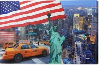 Canvastavla Sammansättning New York.