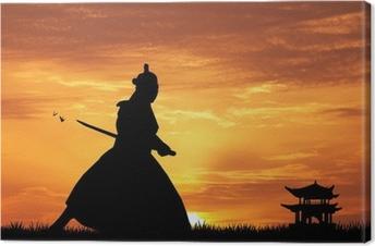 Canvastavla Samurai